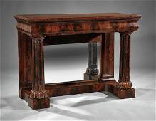 An American Classical Carved Mahogany Pier Table