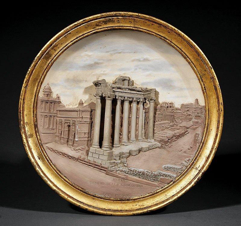 A Grand Tour Ceramic Plaque