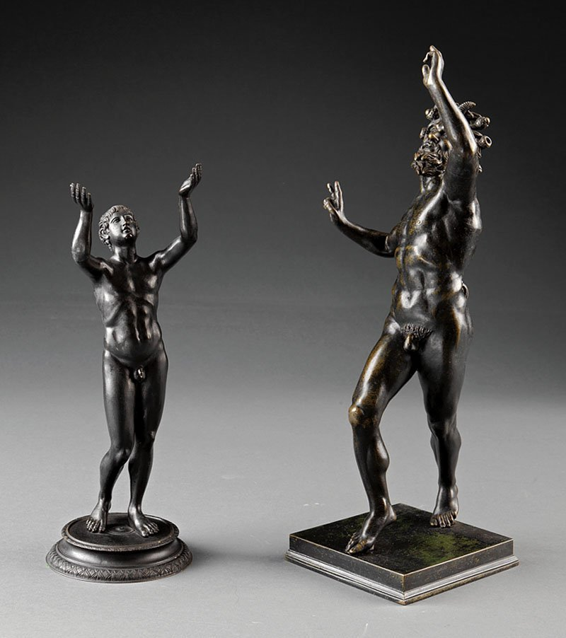 "A Bronze Figure of ""The Dancing Faun"""