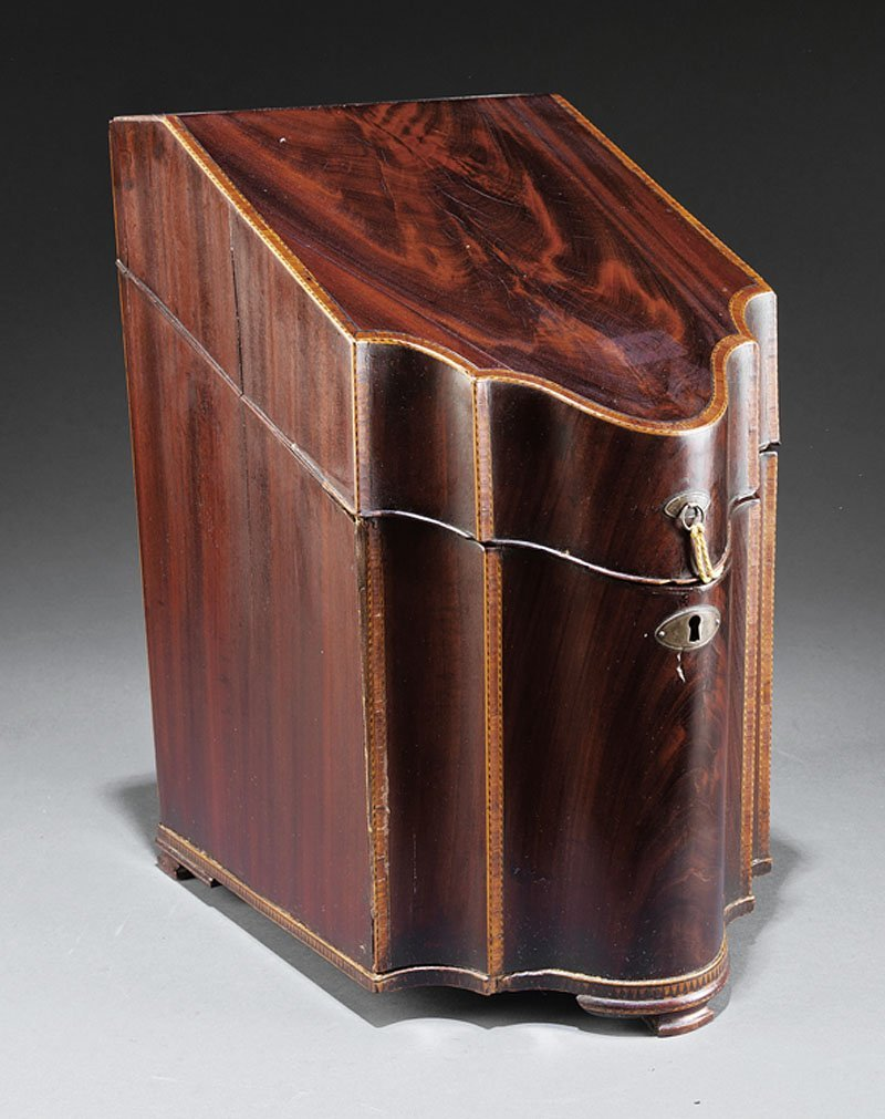 A Georgian Inlaid Mahogany Knife Box