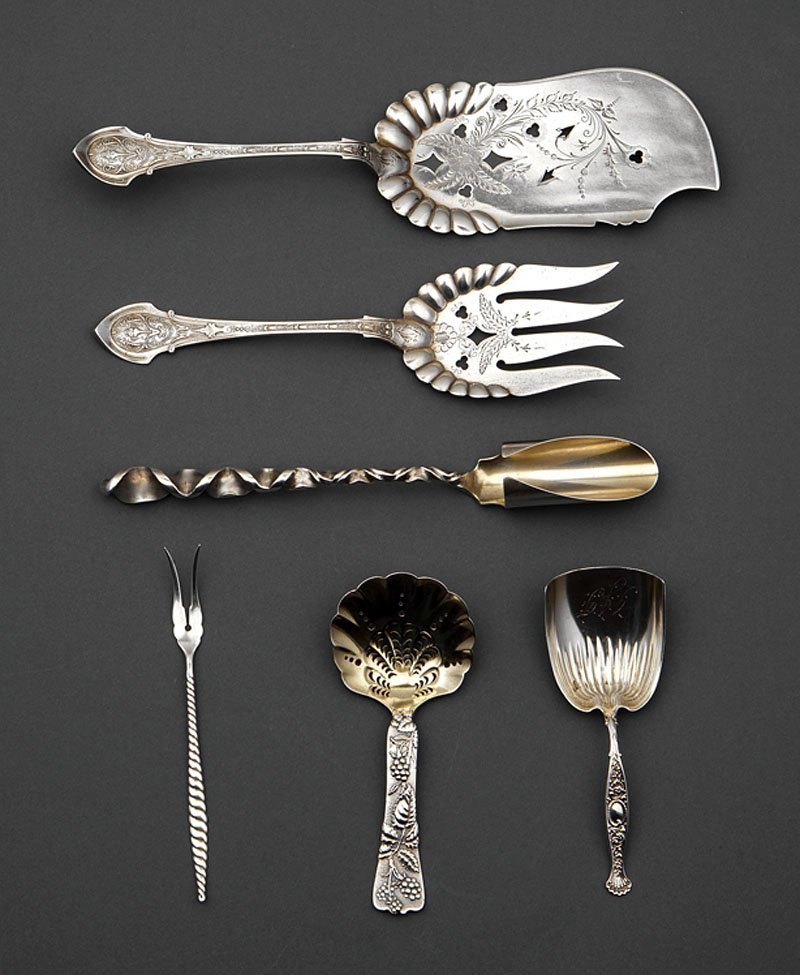 A Group of American Sterling Silver Flatware