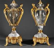 A Pair of Louis XVIStyle Gilt BronzeMounted Roc