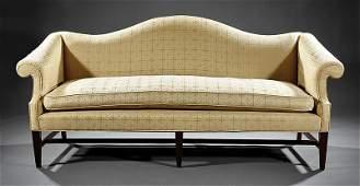 A George III-Style Mahogany Camelback Sofa