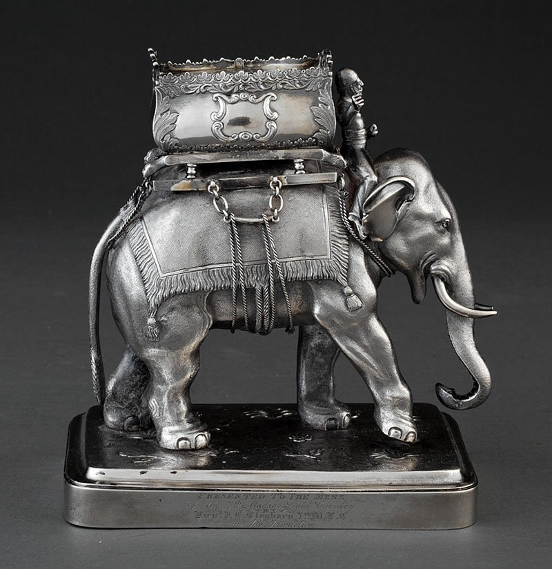Hamilton & Co. Silver Garniture Figure