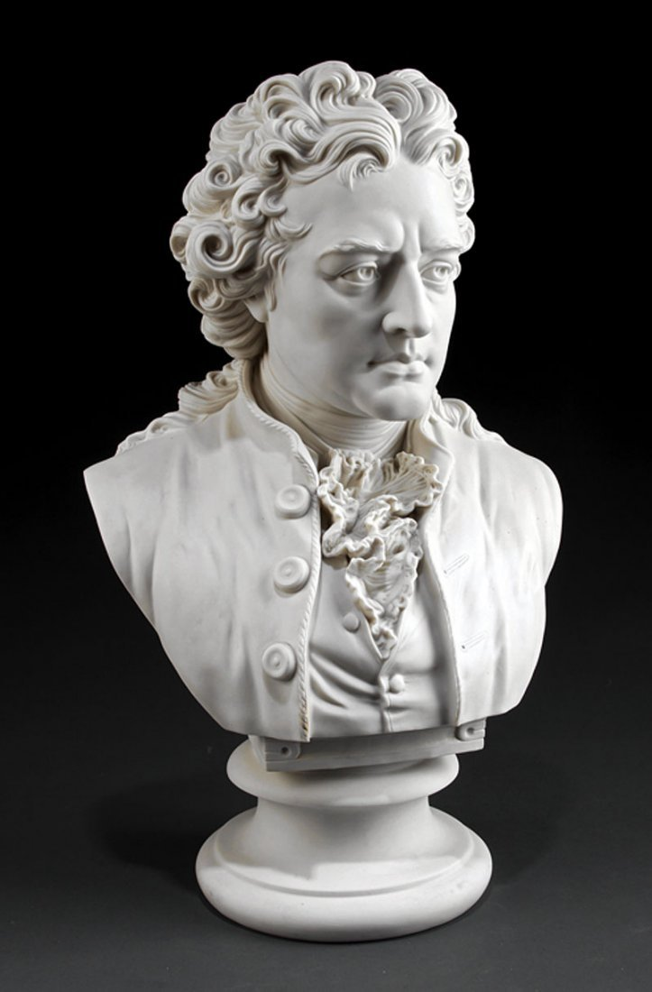 "English Parian Bust of ""Mozart"" marked  ""R&L"""