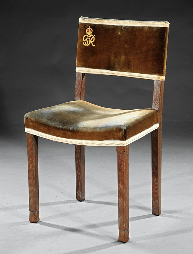 Hands & Sons Oak and Velvet Coronation Chair