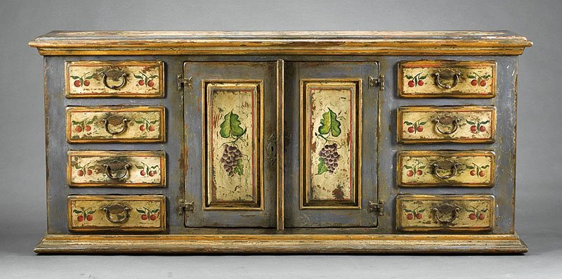 Painted and Polychrome-Decorated Credenza