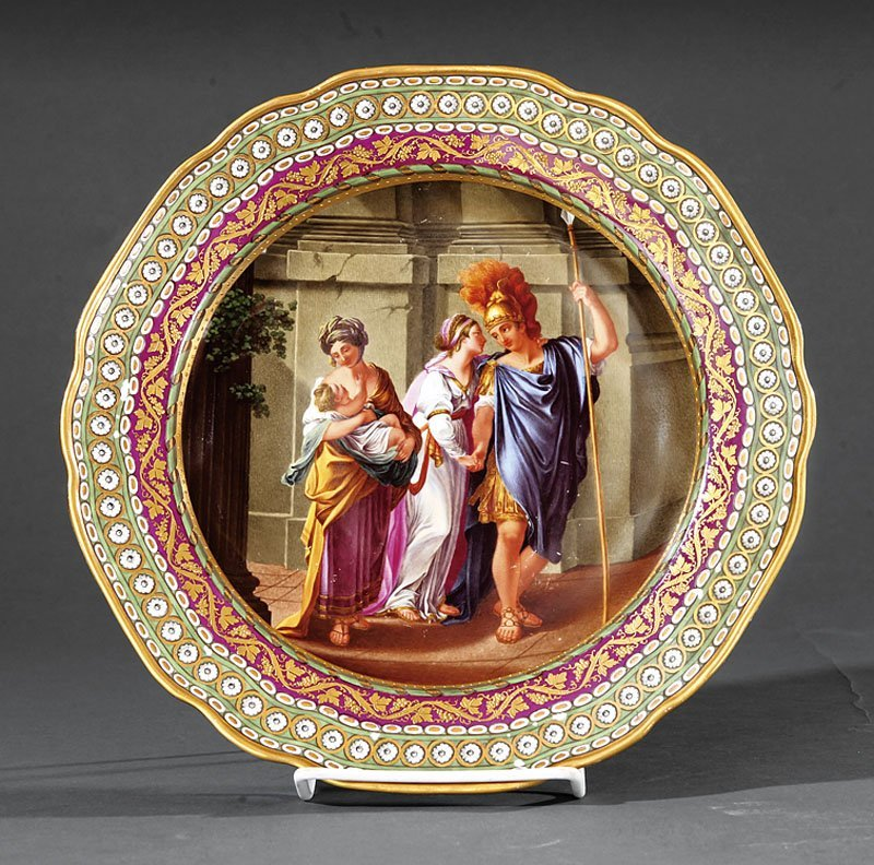 Royal Vienna Polychrome Porcelain Cabinet Plate