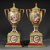 Gilt BronzeMounted Porcelain Covered Urns