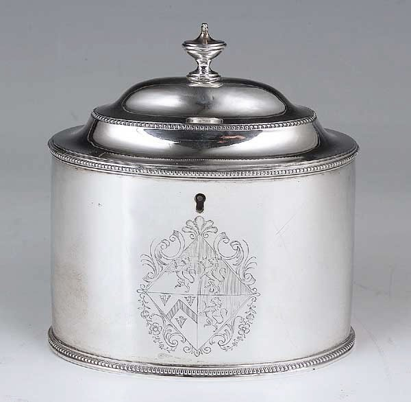 0242: A Rare George III Sterling Silver Oval