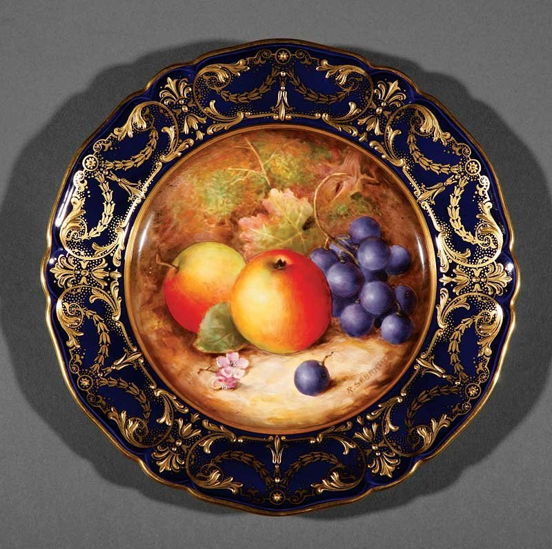 Twelve Royal Worcester Dessert Plates