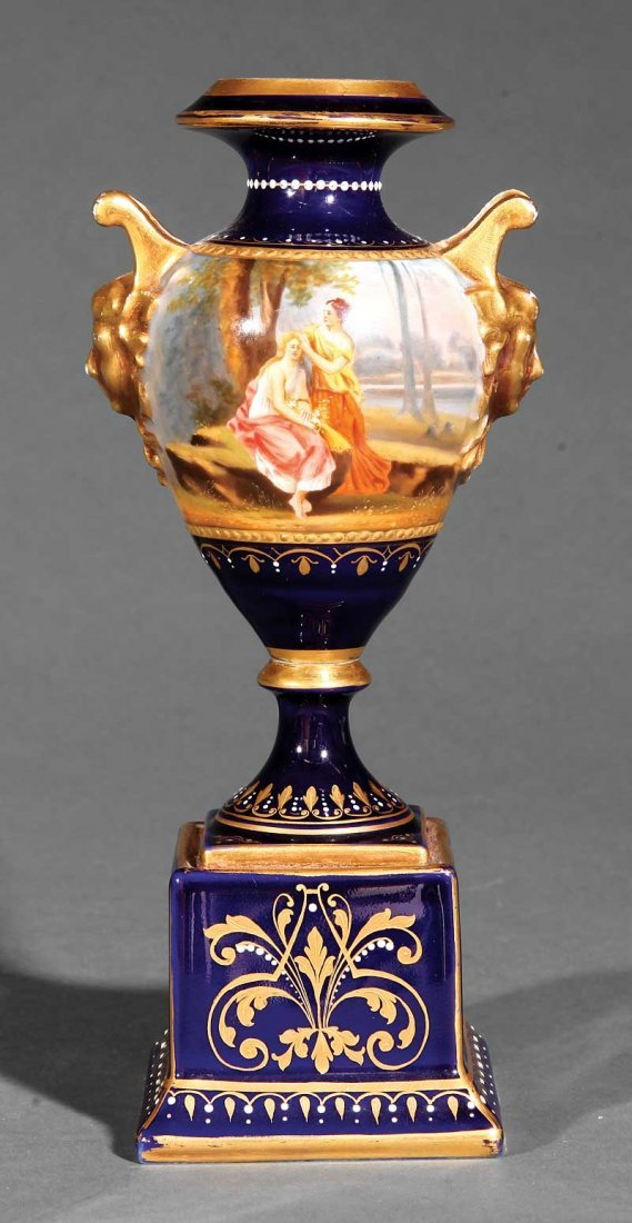 "A ""Royal Vienna"" Porcelain Miniature Urn"