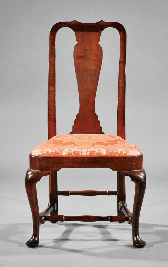 An American Queen Anne Carved Walnut Side Chair