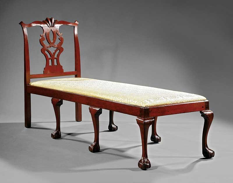 An American Chippendale Carved Mahogany Daybed