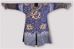A Chinese Blue Gauze Summer Dragon Robe, Ji Fu