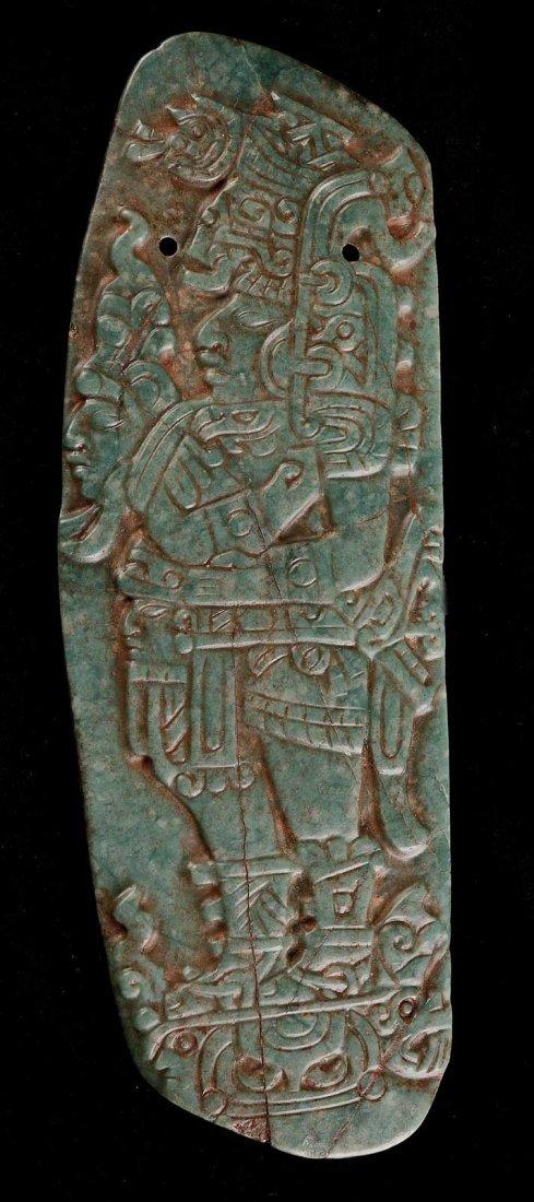 A Pre-Columbian Jade Plaque