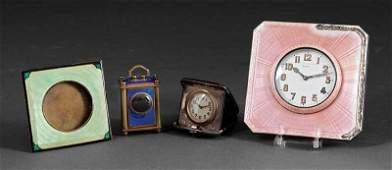 Four Guilloche Enamel Objects