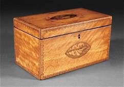 A George III Satinwood Tea Caddy