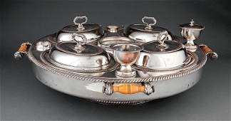A Silverplate Revolving Supper Service