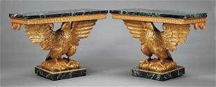 George II-Style Carved and Gilded Consoles