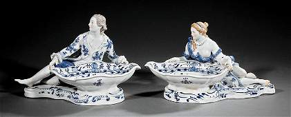"""""""Meissen"""" Porcelain Figural Sweetmeat Dishes"""