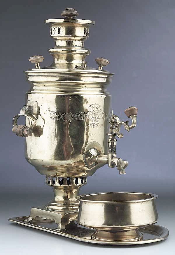 0003: A Good Russian Brass Samovar Set