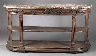 A French Carved Mahogany Console Desse