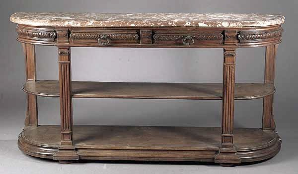 0013: A French Carved Mahogany Console Desse