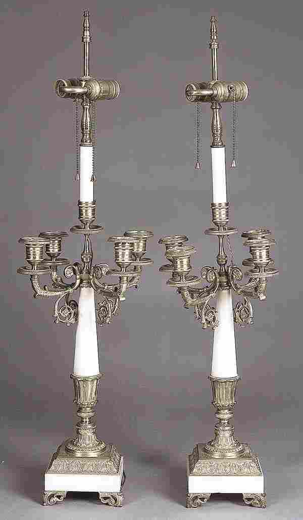 0022: A Pair of Napoleon III Gilt Bronze and