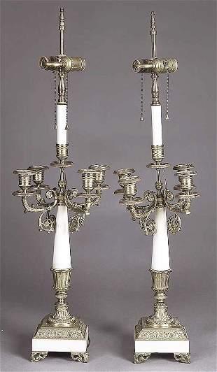 A Pair of Napoleon III Gilt Bronze and