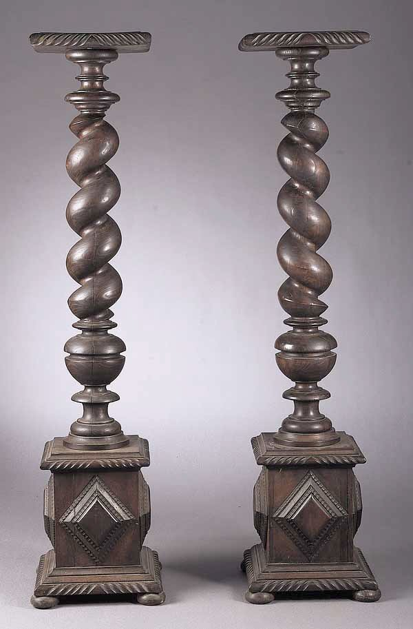 0023: A Pair of Victorian Carved Walnut Torc