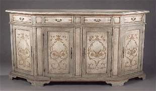A Venetian-Style Paint-Decorated Crede