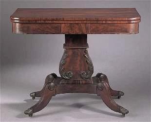 An American Classical Mahogany Foldove