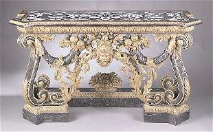 A George III-Style Marble and Gilt Con