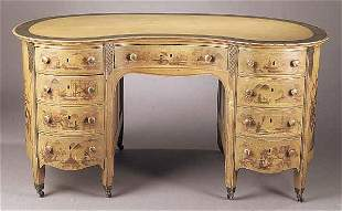A Fine Chinoiserie Paint-Decorated Ped