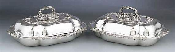 0157: A Pair of Antique English Silverplate