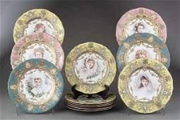 """0280: A Fine Set of Twelve """"Sevres"""" Porcelai"""