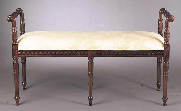 0725: A Louis XVI-Style Mahogany Window Seat