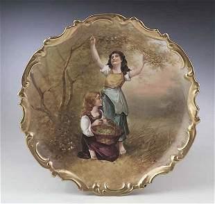 A Large Limoges Porcelain Cabinet Plat
