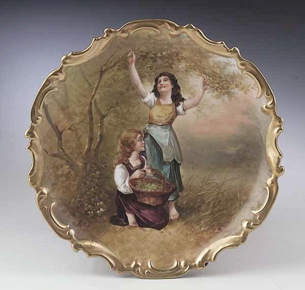 0726: A Large Limoges Porcelain Cabinet Plat