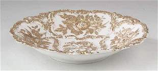 A Meissen Gilt Porcelain Center Bowl