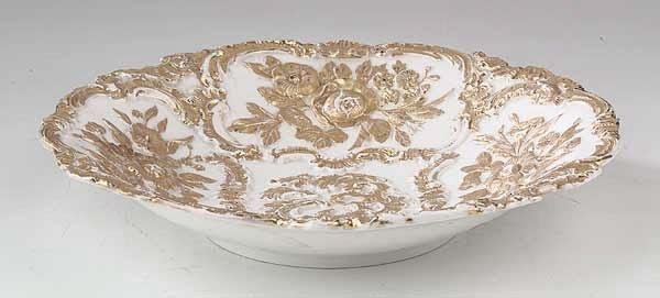 0727: A Meissen Gilt Porcelain Center Bowl