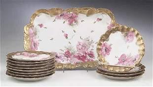 A Limoges Porcelain Dessert Service