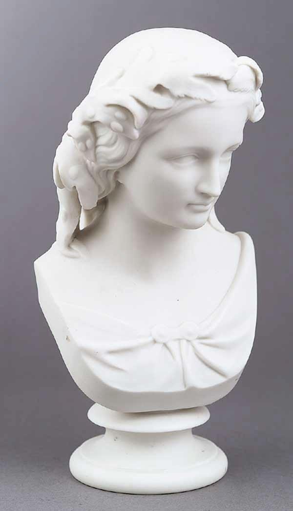 "0731: A Copeland Parian Bust of ""Miranda"""