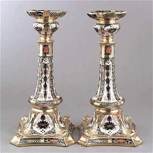 A Pair of Royal Crown Derby Porcelain