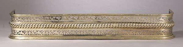 0734: An Early Victorian Brass Fireplace Fen