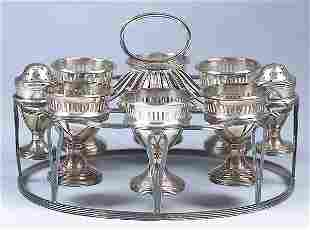 A Silverplate Egg Stand