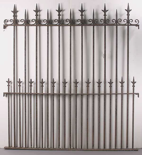 0882: A Pair of Wrought Iron Fence Panels
