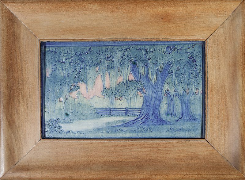 A Newcomb College Art Pottery Plaque