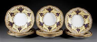 Coalport Porcelain Soup Plates